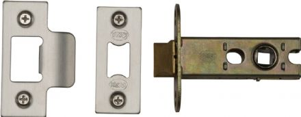 M Marcus York Security YKAL2-SN&SC Architectural Mortice Latch 64mm Satin Nickel/Chrome